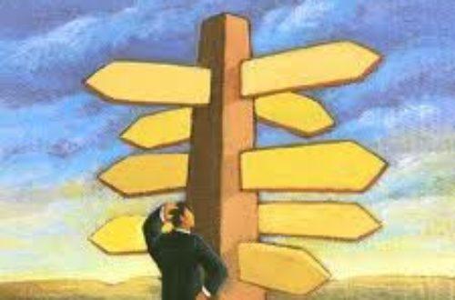 Article : Dans la vie, il y a toujours un choix qui s'impose